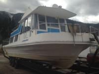 1973 Boatel Islander. Must sell our Houseboat in great