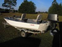 1973 Boston Whaler 13'. 40 hp Yamaha motor. Trailer,