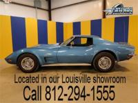 1973 Chevrolet Corvette for sale. This metallic blue