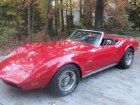 1973 Corvette Convertible Stingray 350ci Engine with