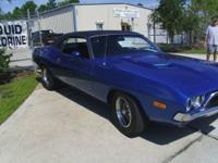 1973 DODGE CHALLENGER.. B5 BLUE WITH BLACK VINAL ROOF.
