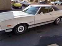 This is a 1973 Ford Grand Torino, it is powered by a