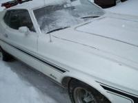 1973 Mustang Mach I Fastback All Original White w/Black