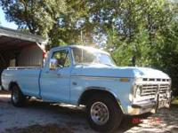 For sale: 1973 Ford pickup. 81,000 miles, new tires