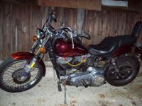 1973 FXE Shovelhead. 1200cc, kick and electric