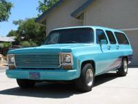1973 SUBURBAN 350 SMALL BLOCK 4 BARREL EDELBROCK CARB