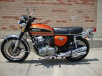 Original 1973 Honda CB750 Four. Flake Sunrise Orange.