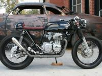 This Honda CB350F started as a stock bike and was built