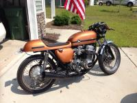1973 Honda cb750 cafe racer. Many new parts are either