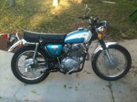 This is a nice running Honda Scrambler k5 model CL350