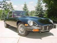 1973 Jaguar XKE coupe. Rebuilt V12 engine with rebuilt