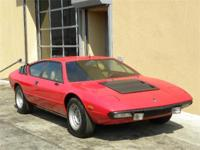 1973 Lamborghini Urraco. Red with beige interior. Very