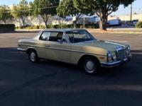 1973 Mercedes 280c second owner 6 cylinder factory 190