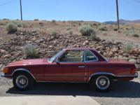 1973 Mercedes 450 SL Color Maroon Chrome Wire Wheels -