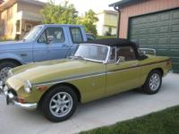 1973 MGB Roadster Convertible 4 cylinder 4 Speed 67,533