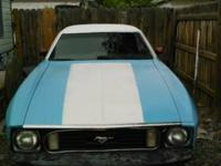 1973 ford horse coupe. Its concerning 80 % done demand