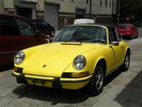 1973 Porsche 911T Targa. Yellow with brand new black