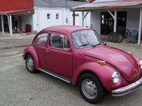 1973 Volkswagen Super Beetle. Has a new transmission,