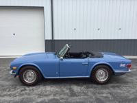 1973 Triumph TR6 (MD) - $15,000 Exterior: French Blue