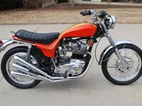 1973 Hurricane. This bike is very original and has been