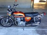 GORGEOUS AND AND NEAR PERFECT ORIG HONDA 750 SUPERBIKE,