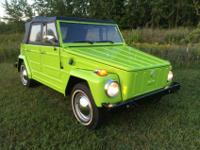 VW Thing. Odometer reveals 30,400 miles. The vehicle