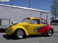 1973 VW Bug Drag Car (CAN) - $30,000 Yellow/Red