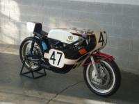 This privateer TZ350 finished the 1973 200 behind World