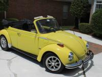 Classic 1973 VW Super Beetle convertible in great
