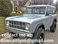 Here I have a 1973 Ford bronco ranger xlt that has been