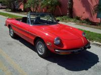1974 Alfa Romeo Spider 2000 Convertible for Sale, fuel