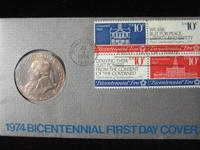 1974 Bicentennial ?John Adams? Medal & First-Day-Cover