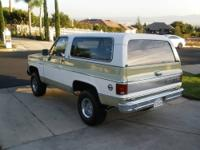 1974 Chevy Blazer 4X4 factory manual 4 speed, 350 V-8 .