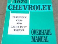 Vintage CHEVROLET 1974 OVERHAUL Manual, Large