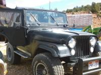 Just in time for the hunt... 1974, CJ5 Jeep New Top and