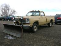This is 1974 W100 Plow Truck with a 7ft. Western Plow.