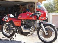 This is a Laverda 750 SF race bike up for auction