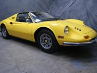 1974 Ferrari 246 GTS, VIN # 08518 Ducumented the LAST