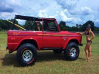 This 1974 Bronco has actually been wonderfully restored