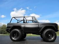 1974 FORD  BRONCO SPORT 4X4  SATIN BLACK  FEATURES AND