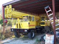 1974 Grove TMS 155 Crane, Hydraulic Truck Crane, Gas up