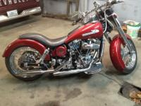 This is my 1974 Harley Davidson FLH complete custom.