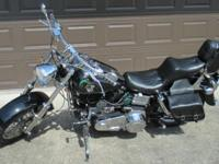 "This is an ""Old School Hot Rod Harley Shovelhead,"""