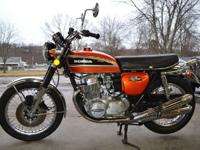 ORIGINAL 1974 HONDA CB750K IN FLAKE SUNRISE ORANGEI