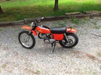 1974 Honda Elsinore This bike has been partially