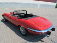 This 1974 E-Type, 12 cylinder Jaguar convertible has a