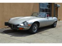 1974 Jaguar XKE Series III V12 Roadster. Silver with