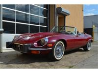 1974 Jaguar XKE Series III V12 Roadster. Burgundy with