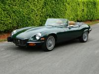 1974 JAGUAR XKE V-12 ROADSTER BRITISH RACING GREEN BRG