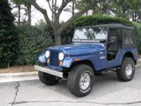 1974 Jeep CJ5, 304 V8, odometer: 836xx, blue drive,